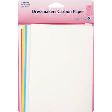 Hemline Dress Makers Carbon Paper 5 sheets 69 x 28cm