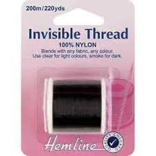Hemline Invisible Thread 100% Nylon 200mtrs