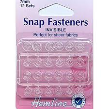 Hemline Snap Fastners - Invisible - 7mm 12 sets