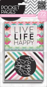Me and my Big Ideas Pocket Pages Themed Cards 72 pieces - Happy Life