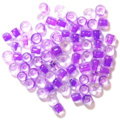 The Craft Factory E Beads - 4mm - Lilac