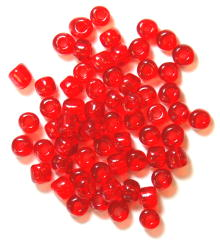 The Craft Factory E Beads - 4mm - Red