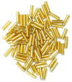 The Craft Factory Bugle Beads - 6mm - Gold