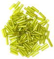 The Craft Factory Bugle Beads - 6mm - Lime Green