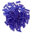 The Craft Factory Bugle Beads - 6mm - Purple