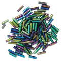 The Craft Factory Bugle Beads - 6mm - Rainbow