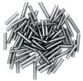 The Craft Factory Long Bugle Beads - 9mm - Metal