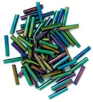 The Craft Factory Long Bugle Beads - 9mm - Rainbow