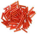 The Craft Factory Long Bugle Beads - 9mm - Red