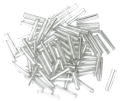 The Craft Factory Long Bugle Beads - 9mm - Silver