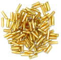The Craft Factory Twisted Bugle Beads - 7mm - Gold