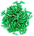The Craft Factory Twisted Bugle Beads - 7mm - Green
