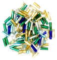 The Craft Factory Twisted Bugle Beads - 7mm - Multi
