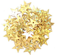 The Craft Factory Hologram Stars 10mm Gold