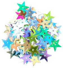 The Craft Factory Large Stars 10mm Assorted