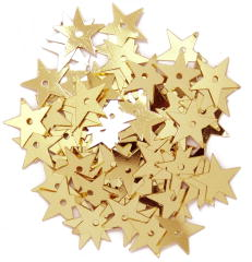 The Craft Factory Large Stars 10mm Gold
