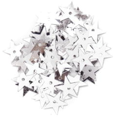 The Craft Factory Large Stars 10mm Silver