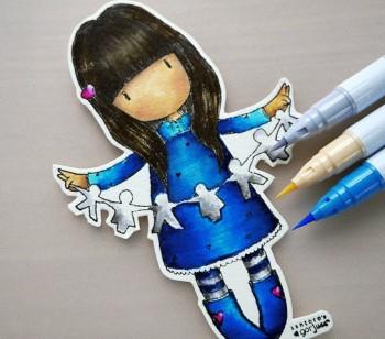 gorjuss girl blue