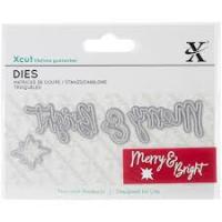 Mini Sentiment Die - Merry & Bright