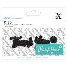 Mini Sentiment Die - Thank You