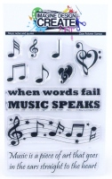 Music notes and quotes:  -A6 Stamp set