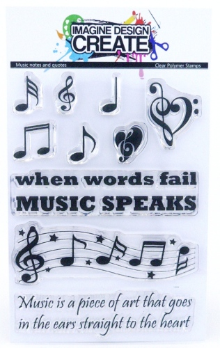 Music notes and quotes - Stamps