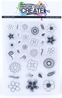 Mini Stamps - A7 Floral Fun stamp set