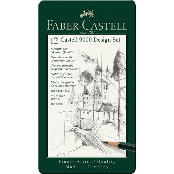 Faber Castell 9000 Design Set - 12 pencils