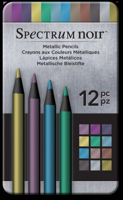 Spectrum Noir Metallic Pencils - tin of 12.