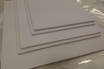"120mm x 120mm (4¾"" x  4¾"") 20 pack of 300gsm White Mat & Layer Card Cuts"