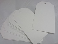 50 Large White Hammered Card Tags (280gsm)