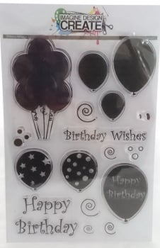 Birthday Balloons Large - A5 Stamp set