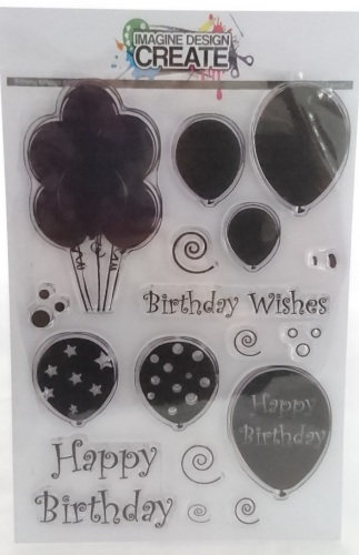 Birthday Balloons Large - Stamps