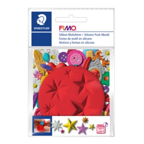 Fimo Silicon Push Mould - Stars