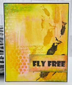 Fly free - feather collage