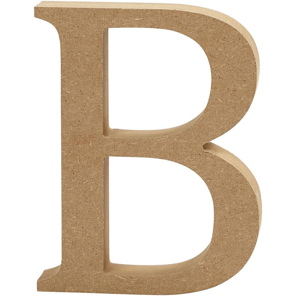 Wooden letter - B