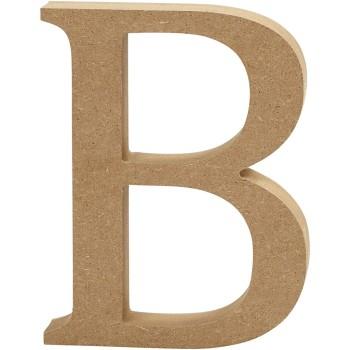 Wooden letter - 13cm - B