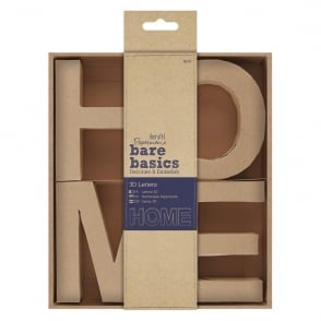 docrafts Papermania bare basics 3D letters - HOME