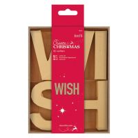 docrafts Papermania bare basics 3D letters - WISH
