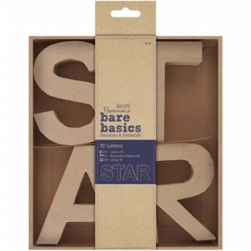 docrafts Papermania bare basics 3D letters - STAR