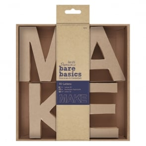 docrafts Papermania bare basics 3D letters - MAKE