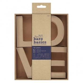 docrafts Papermania bare basics 3D letters -LOVE