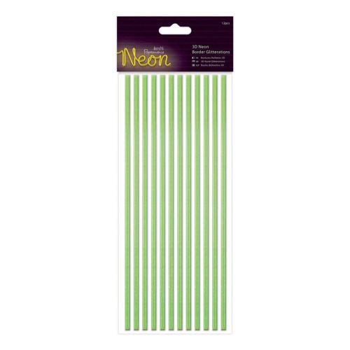 Docrafts 3d neon border glitteration - Green