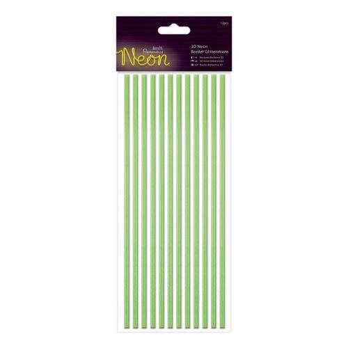Docrafts 3d neon border glitteration - Green