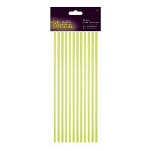 Docrafts 3d neon border glitteration - Yellow