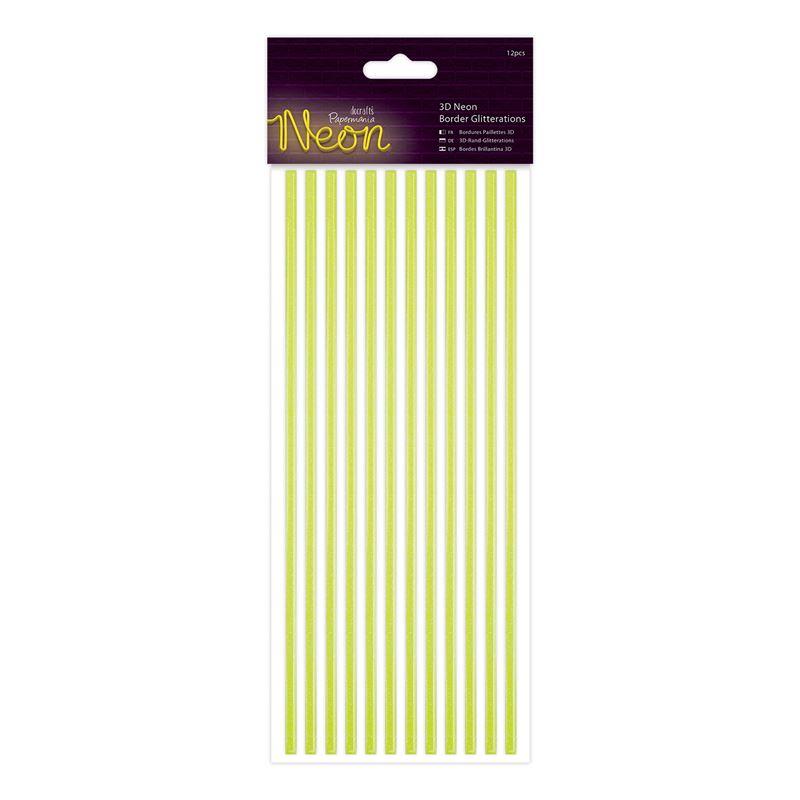 Docrafts 3d neon border glitteration - Yellow