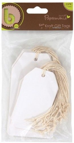 Docrafts bare kraft gift tags