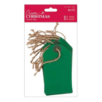 Docrafts create christmas festive tags - green