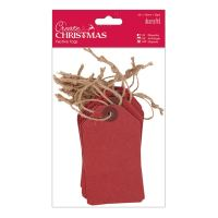 Docrafts create christmas festive tags - red