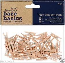 Mini Wooden Pegs - pk 50 - 2.5cm length.